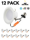 4 Inch LED Downlight 60/12/4/2 Pack 9W Baffle Recessed Retrofit Ceiling Light