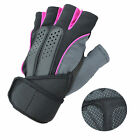 Weight Lifting Gym Fitness Workout Training Mens Exercise Half Gloves Wrist Wrap