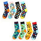 Happy Socks Men's Casual Dress Socks Polka Dots Multi-Color Hosiery