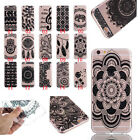 Black Pattern Ultra Thin Gel Rubber Silicone Clear Soft TPU Case Cover for Phone