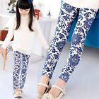 Baby Kids Girls Leggings Floral Pants Elastic Waist Trousers Casual Pants 2-7Y