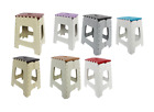 Plastic Folding Step Stool Foldable Ladders Easy Carry Camping Stools Ladder