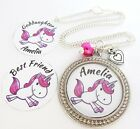 S.NECKLACE- Hp.bd/St.H- Unicorn *Any Name* Goddaughter,Best Friend,Niece,Xmas 5