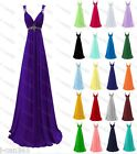 Long Chiffon Formal Prom Party Wedding Bridesmaid Evening Dress Stock Size 6-22