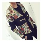 Splicing Floral Jacket Plate Button Man Cloth Coat
