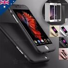 360 THIN SHOCKPROOF HARD CASE Cover Tempered Glass For iPhone 6 6S Plus SE