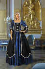 Medieval, Renaissance, or Gothic Style Dress Gown Handmade from Taffeta