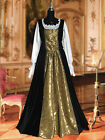 Medieval Renaissance Baroque Dress Ensemble with Skirt, Chemise, and Bodice