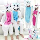 Unisex Adult Kid Pajamas Kigurumi Cosplay Animal Onesie Sleepwear Shoes Unicorn