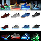 Womens Kids Mens LED Luminous Light up Shoes Cool Casual Sportswear Sneakers