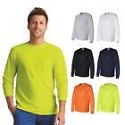 Gildan Mens Ultra Cotton Long Sleeve T-Shirt with a Pocket S-5XL - 2410 image