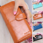 Lady Women's PU-Leather Card Money Coins Holder Wallets Clutch Bag Long Purse