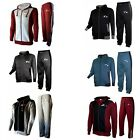X-2 Mens Athletic Full Zip Fleece Tracksuit Jogging Gym Sweatsuit Hooded Top