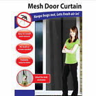 Magnetic Snap Magic Mesh Door Curtain Fly Bug Insect Mosquito Screen Net Guard