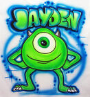 Airbrushed Personalized Monster Inc Sully Mike T-shirt Bodysui Hoodie Pillowcase
