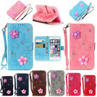 New 3D Flower Pattern Leather Wallet Luxury Stand Case Cover For iPhone 7 Plus/7