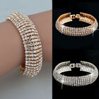 Fashion Charm Women Crystal Rhinestone Cuff Bracelet Bangle Jewelry Gift