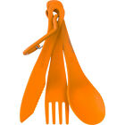 Sea to Summit Lightweight Delta Cutlery Set, Knife, Fork & Spoon - Orange