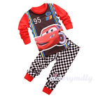 Kids Boys Girls Baby Disney Cartoon Sleepwear Cotton Nightwear Pyjamas Set Gift
