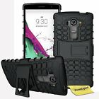 LG G4 Beat / G4s Heavy Duty Hybrid Tough Shockproof Kickstand Hard Case Cover