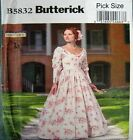 Butterick Sewing Pattern 6267 Ladies History Southern Belle Costume Pick Size