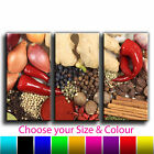 Mixed Herbs & Spices Canvas Art Print Treble Triptych Box Framed Picture 6