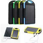 Waterproof 5000mAh Portable Solar Charger Dual USB Battery Power Bank For Phone