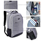 18 inch Mens & Women Canvas Backpack (Built-in Protection for 15.6 Laptop)
