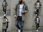 Wild & Young FASHION HERREN LONG PAKER Khaki Street ClubSTYLE Rebell Army Jacke