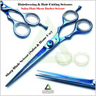 Blue / Black Professional Barber Scissor, Salon Shear Hair Cutting & Dressing