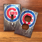 Chicago Cubs Baseball Fans Man Cave Light Switch Plate Cover SAME DAY SHIPPING**
