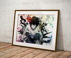Death Note Anime Poster Watercolor Wall Art Otaku Print Anime Poster Gift R11