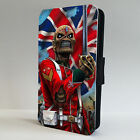 Iron Maiden The Trooper Rock LEATHER FLIP PHONE CASE COVER fits IPHONE & SAMSUNG