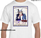 Narcotics Anonymous - NA  - H&I UNCLE SAM - FULL COLOR Graphic T-shirt Black