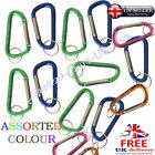 Carabiner Aluminum Alloy locking Clip Camping Snap D Hook Keychain Key Ring