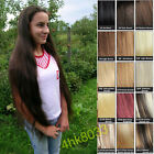 Customized Thick Clip In 100% HUMAN HAIR Extensions 200g 180g 160g 10p lot 22""