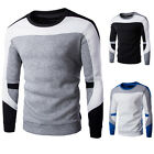 Korean Mens Crew Neck Sweatshirt Long Sleeve Casual Hoody Outwear Sweater Tops