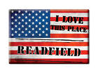 SOUVENIR USA - MAINE FRIDGE MAGNET AMERICA I LOVE READFIELD (KENNEBEC COUNTY)