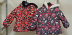 """London Fog """"Baby Girls"""" Size 18 Months Red or Black Faux Fur Hooded Puffer Coat"""