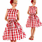 Vintage Women 50s Rockabilly Pinup Evening Prom Party Cocktail Swing Dress 8-16