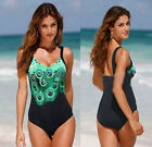 Women One Piece Backless Monokini Swimsuit Beachwear Bikini Swimwear Size 6-22