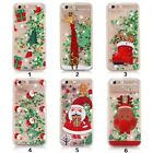 3D Dynamic Liquid Quicksand Christmas Case For iPhone 6s 7 Plus Cover Xmas Gift