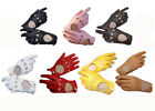 Women Lady\'s Lambskin soft genuine leather driving gloves