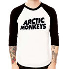 ARCTIC MONKEYS#2 ROCK band Baseball Jersey t-shirt 3/4 sleeve Raglan Tee