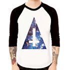 Cosmic Triangle#2 galaxy space cross Baseball t-shirt 3/4 sleeve Raglan Tee