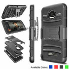 Shockproof Belt Clip Holster Stand Case Cover for Motorola Moto Z Droid Edition