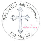 Personalised High Gloss Holy Communion Day Circle Stickers Seal (3 for 2 offer)