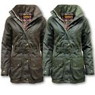 WOMENS GAME CANTRELL PADDED ANTIQUE  WAX JACKET COAT XS-XXL WINTER LADIES COTTON