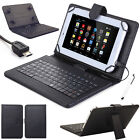 """Universal Leather Case Cover Micro USB Keyboard For 7""""-8"""" 9.7""""-10.2"""" Tablets PC"""