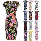 Womens Wiggle Pencil  50s Floral Dress Ladies Cocktail Party Dresses PLUS Size